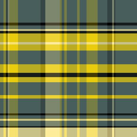 Daisies  Plaid fabric by pond_ripple on Spoonflower - custom fabric