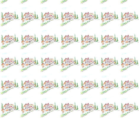 DragonVillage-ed fabric by scoutmom131 on Spoonflower - custom fabric
