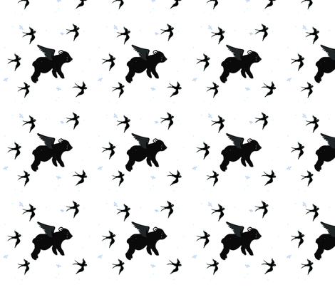 Flying bear fabric by gurumania on Spoonflower - custom fabric