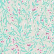 Tangled Mint Vine, Rose Blossom