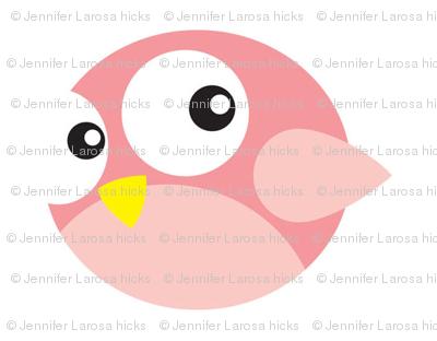 Round Pink Birdies