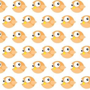 Round Orange Birdies