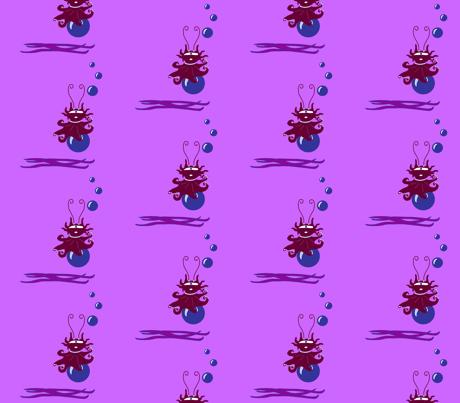 MARINE CUTE VIOLET fabric by gal© on Spoonflower - custom fabric