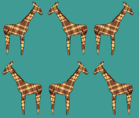 Giraffe Plush fabric by pond_ripple on Spoonflower - custom fabric