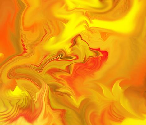Fire Fury fabric by ladyfayne on Spoonflower - custom fabric