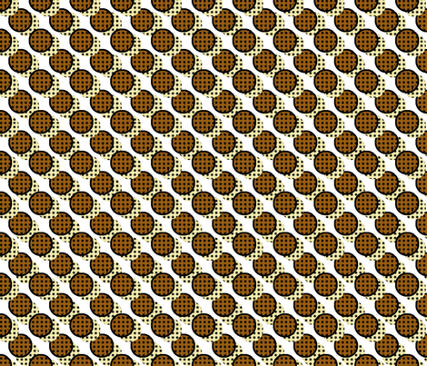 Pop Art Cookies - Diagonal Cookie Stripe fabric by elsielevelsup on Spoonflower - custom fabric