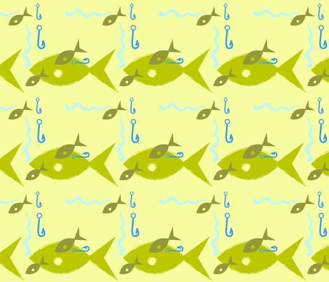 hook 'em fabric by kateg on Spoonflower - custom fabric