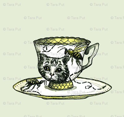 Bee and Kitty Teacup