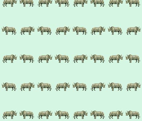 Rhinos! fabric by taraput on Spoonflower - custom fabric