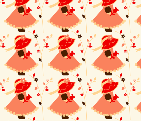 The Little Red Hat fabric by eppiepeppercorn on Spoonflower - custom fabric