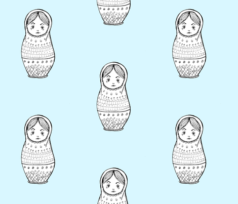 Nesting Doll fabric by taraput on Spoonflower - custom fabric