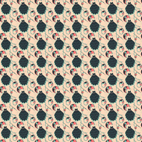 "Vintage Postcard (1"") fabric by eppiepeppercorn on Spoonflower - custom fabric"