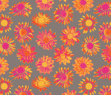 Fun Daisies fabric by coloroncloth on Spoonflower - custom fabric