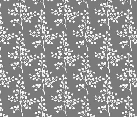 Grey Branch fabric by christiem on Spoonflower - custom fabric