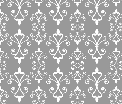 Grey Scroll fabric by christiem on Spoonflower - custom fabric
