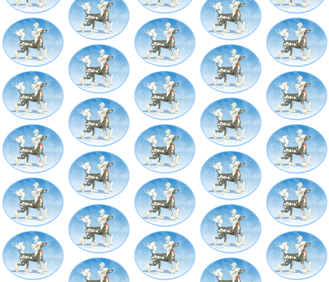 Perky Chinese Crested Dog fabric by greerdesign on Spoonflower - custom fabric
