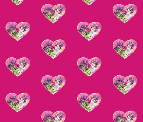 Hummingbird Heart fabric by greerdesign on Spoonflower - custom fabric