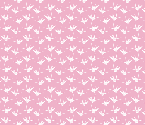 Folded Friends: Bubblegum fabric by nadiahassan on Spoonflower - custom fabric