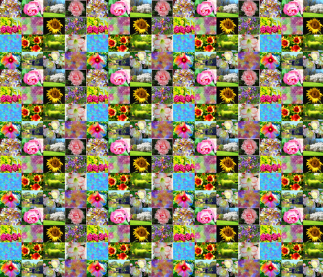 Flower and Garden Collage fabric by jacquerose on Spoonflower - custom fabric