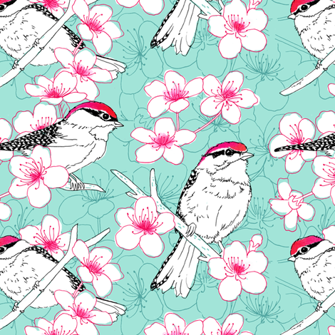 Chicka-Pecker (formerly known as uni-chicka-pecker) fabric by pattysloniger on Spoonflower - custom fabric