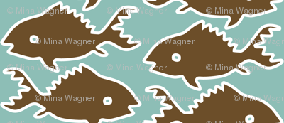 Fishes-1-brown-white-outlines-MINAGREEN