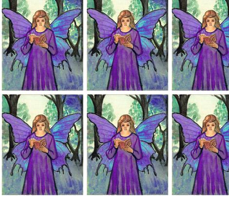 purple book fairy fabric by vinkeli on Spoonflower - custom fabric