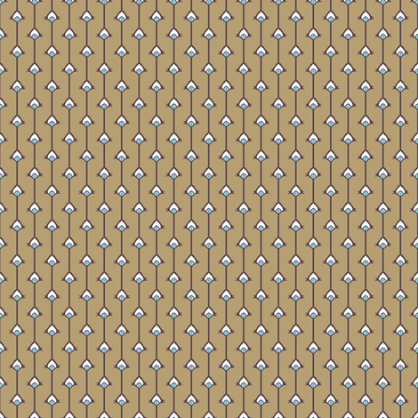 Eye Stripes on Brown fabric by siya on Spoonflower - custom fabric