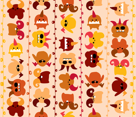 March of the Monsters fabric by leighr on Spoonflower - custom fabric