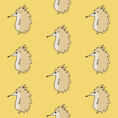 Hedgehogs fabric by pond_ripple on Spoonflower - custom fabric
