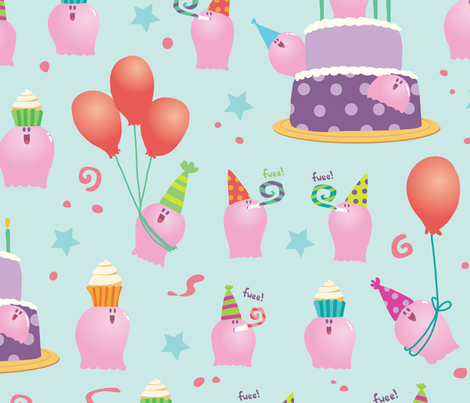 Party Meebs! fabric by abby_zweifel on Spoonflower - custom fabric