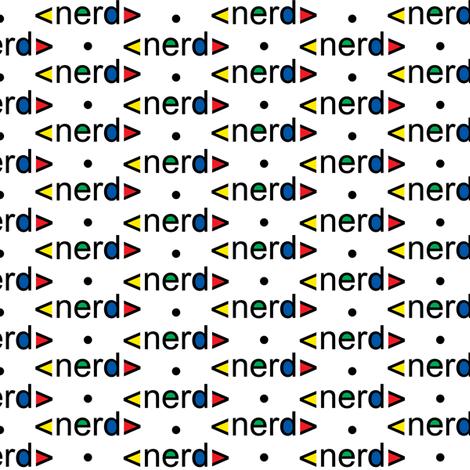 Nerd fabric design fabric by andibird on Spoonflower - custom fabric