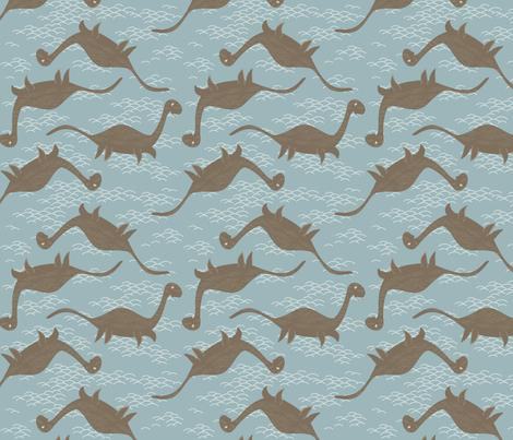 Floating Nessie fabric by creativebrenda on Spoonflower - custom fabric