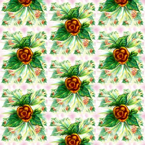 Yellow rose fabric by vinkeli on Spoonflower - custom fabric
