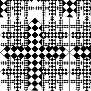 checkerboard crosses