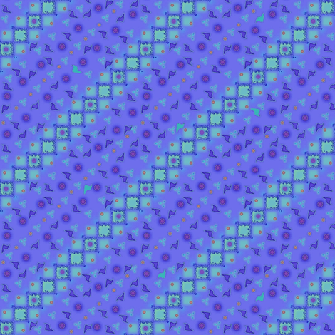 ©2011 Blue Fragments fabric by glimmericks on Spoonflower - custom fabric