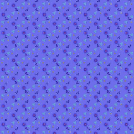 ©2011 Blue Fragments 04 fabric by glimmericks on Spoonflower - custom fabric