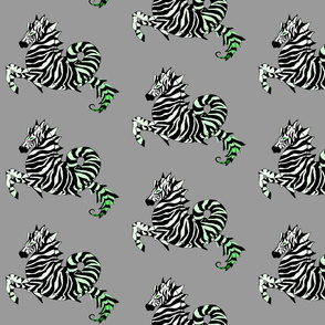 Green Zebra Sea Horse