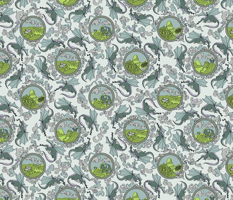 Dragons fabric by laurarae on Spoonflower - custom fabric