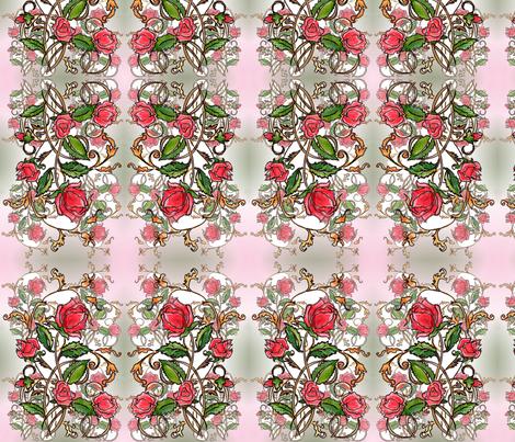 Lots of red Roses fabric by vinkeli on Spoonflower - custom fabric