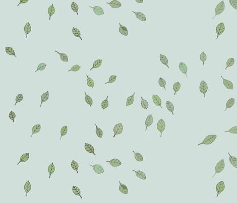 flying leaves fabric by alessandra_spada on Spoonflower - custom fabric