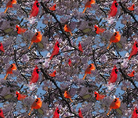 cardinals fabric by p_kok on Spoonflower - custom fabric