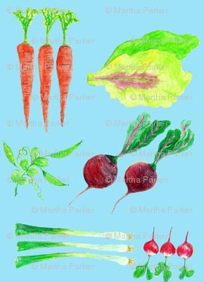 spring salad light aqua