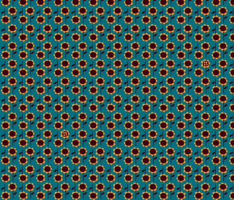 Bears love fish - sunflowers fabric by bora on Spoonflower - custom fabric