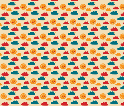Bears love fish - summer sky fabric by bora on Spoonflower - custom fabric