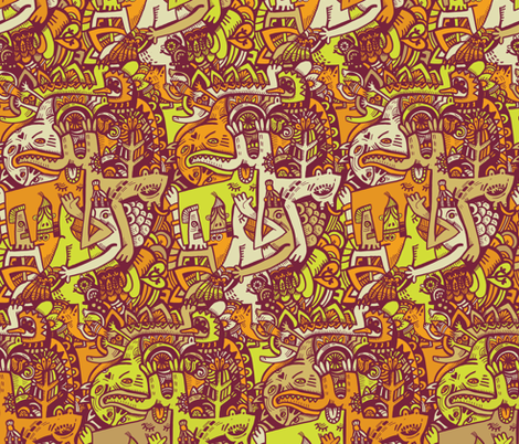 Animal Party fabric by ruusulampi on Spoonflower - custom fabric