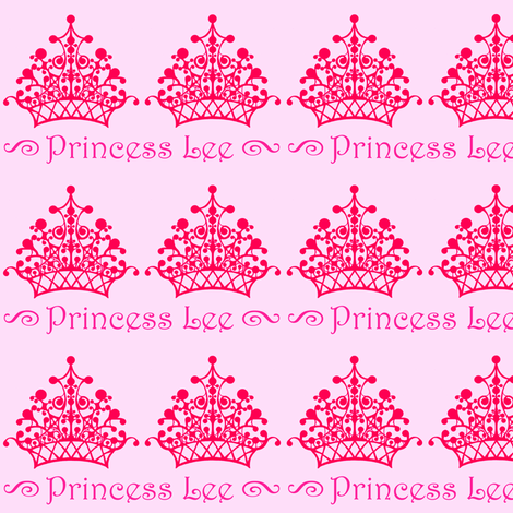 Pink on Pink Princess Lee fabric by sarahthomas on Spoonflower - custom fabric