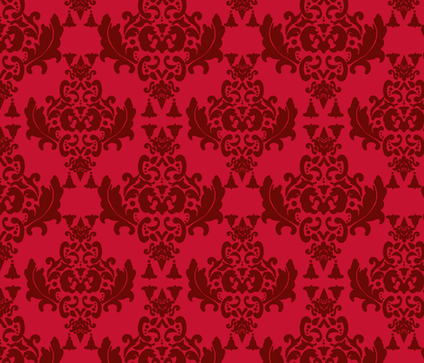 Delicious Damask in Red fabric by mayabella on Spoonflower - custom fabric