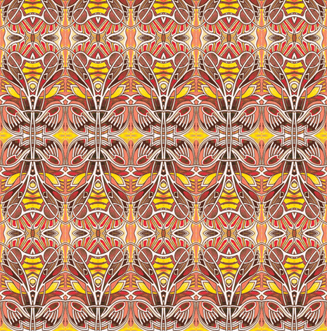 The Golden Ooga Booga fabric by edsel2084 on Spoonflower - custom fabric