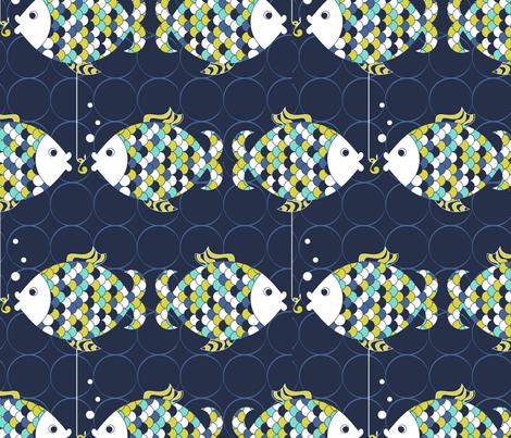 Fishy Lunch fabric by newmomdesigns on Spoonflower - custom fabric