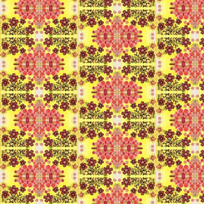 caleidoscopic tiled flowers